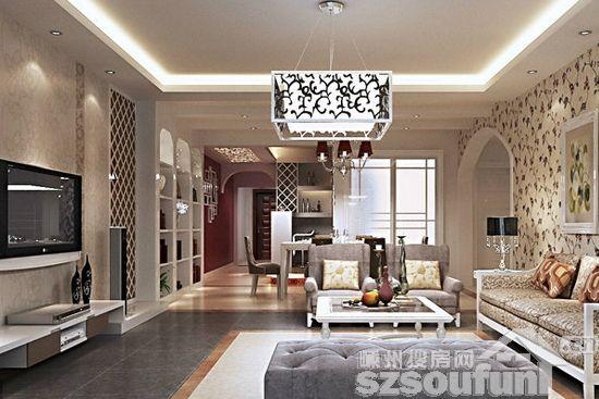 家居的方法很多,其中用壁纸装修就是其中的一种。那壁纸怎么去打造一个美丽的客厅呢?这些客厅装修壁纸效果图就会告诉大家答案。  客厅装修壁纸效果图 客厅装修壁纸效果图1 在33平的挑高楼中楼里,设计师以精品规格打造迷你小豪宅。时尚图腾壁纸与华美订制家具,用装饰带出空间氛围是程翊设计独有的美感艺术。  客厅装修壁纸效果图 客厅装修壁纸效果图2 整个空间融入了典雅的欧美风韵,一气呵成,自然而协调,使整个风格更显温馨、贵气,最终达到高雅中显贵气,别致中显温馨。  客厅装修壁纸效果图 客厅装修壁纸效果图3 设计师以欧
