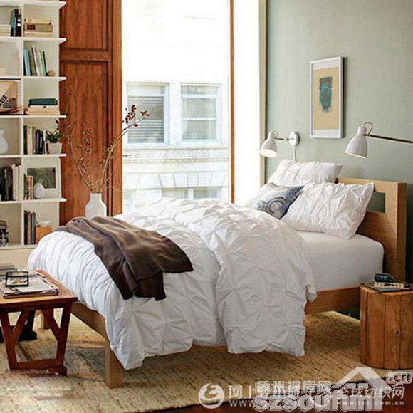 欧式床带投影的图片