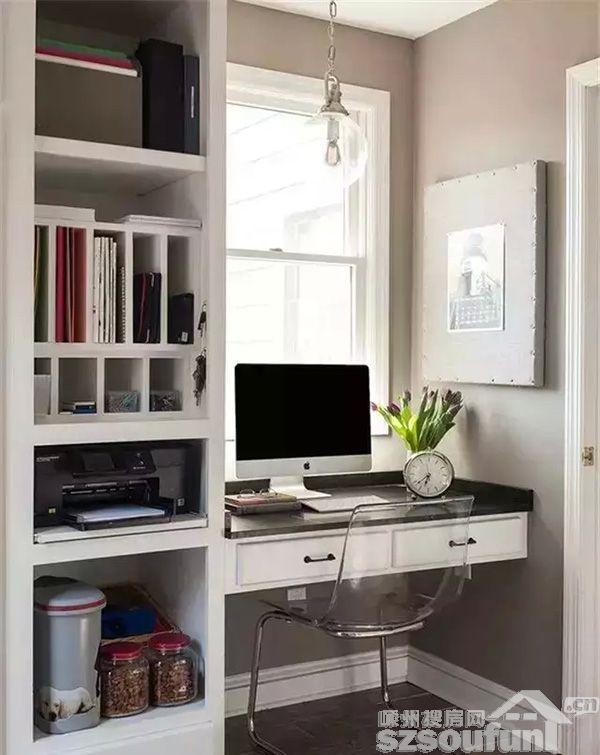 书柜书桌合理设计图展示图片